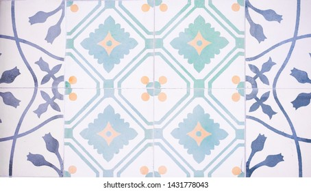 Tiles. Texture of ceramic tiles in oriental turkish style. Turkish ceramic tiles lined on the wall. (not seamless)