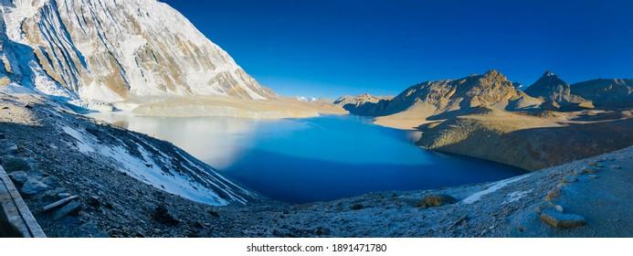 Tilicho lake located at manang.