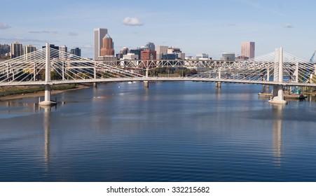 Tilikum Crossing Portland Oregon New Bridge Construction Willamette River