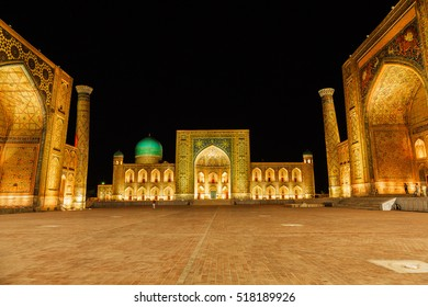 Tilla-Kara Madrasa / Samarkand Registan Square at nigth/