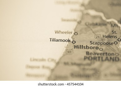 Tillamook Map Images Stock Photos Vectors Shutterstock