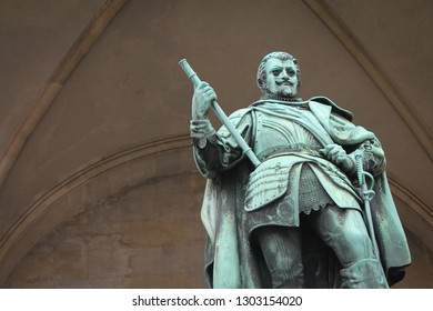 Tilly statue at the Feldherrnhalle loggia in Munich, Germany