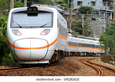A Tilting Train in Taiwan.