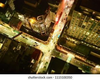 tilt-shift of Sydney city. Sydney building view