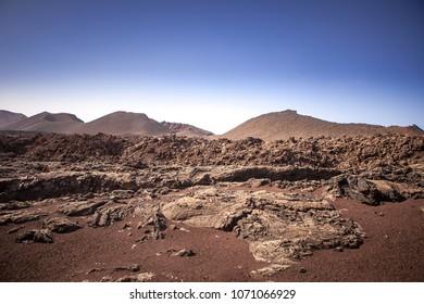 Timanfaya National Park, Lanzarote , Canary island.