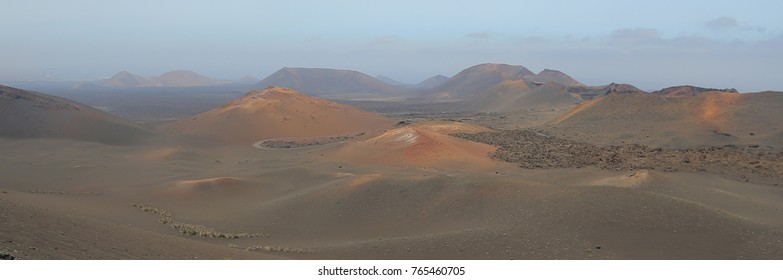 Timanfaya National Park in Lanzarote, Canary Islands, Spain