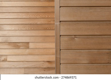 Timber board cladding background with horizontal & vertical elements