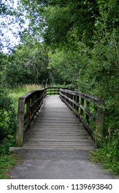 Timber bridge spanning a small rural river