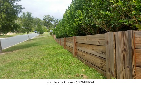 Timber Retaining Wall in Australian Suburb