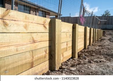 Timber Retaining Wall Sydney House Australia Landscape