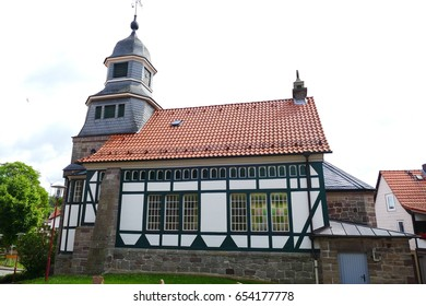 Timbered Church of Oberweser-Arenborn, Kassel district,  Hesse, Germany,