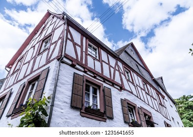 Timbered house Neef at the Moselle Rhineland-Palatinate Germany.
