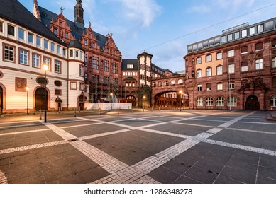 Timbered style traditional buildings of Frankfurt
