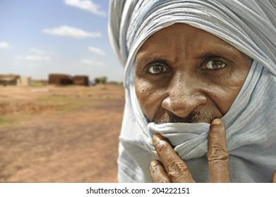 Timbuktu, Mali (Africa) - Aug 8, 2011: Tuareg man in Timbuktu.