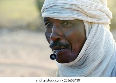 Timbuktu, Mali, Africa - september 2, 2011 Tuareg camp near Timbuktu