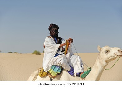 Timbuktu, Mali -september - 2 - 2011 Tuareg with camel in Timbuktu
