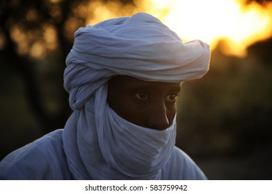 Timbuktu, Mali, september - 2 - 2011 Tuareg camp near Timbuktu