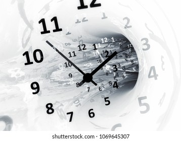 Time. Abstract 3d illustration