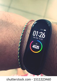 Time to achieve the goal on the wrist fitness band