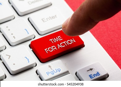 TIME FOR ACTION word concept button on keyboard