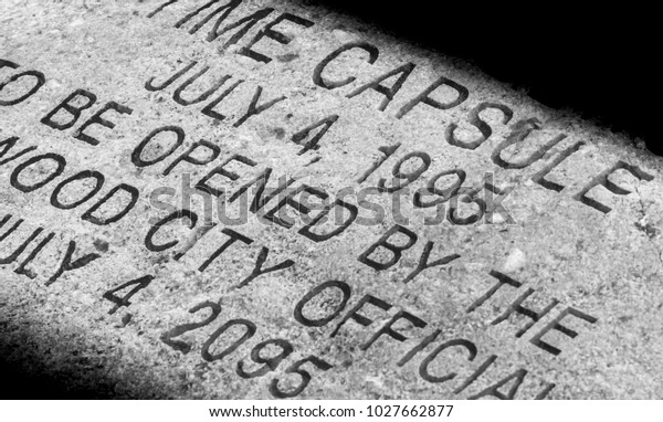 Time capsule stoned cap with letters written on it, fourth of July 1995-2095-urban Kentucky 2018 urban exploration photography