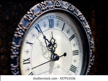 Time for change concept. Five minutes until twelve o'clock. - Shutterstock ID 437915536