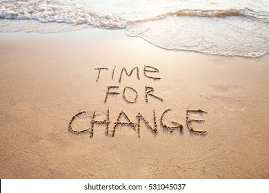 time for change, concept of new, life changing and improvement