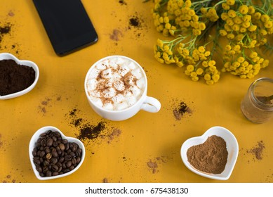 Time for coffee and smartphone