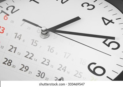 Time concept with clock and calendar