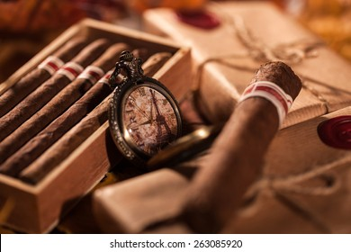 Time to enjoy! Two parcels with top quality Cuban cigars - a great gift from best friend
