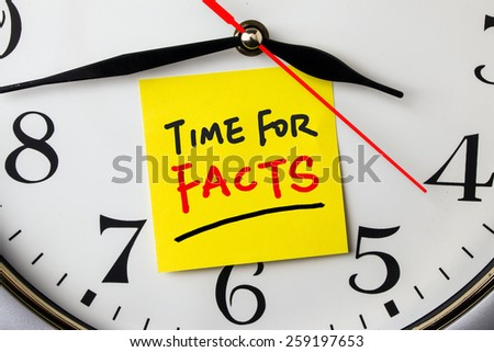 Time Facts On Postit Stuck Wall Stock Photo (Edit Now