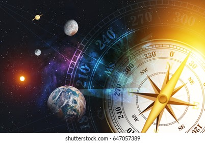time machine concept. colorful space nebula background. over light [Elements of this Image Furnished by NASA]
