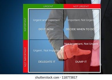 Time Management Concept with Business Hand Pointing