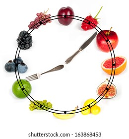 time for meal - rainbow collection of fruits