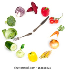 time for meal - rainbow collection of vegetables