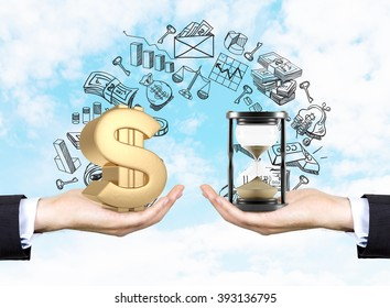 Time is money. Business concept