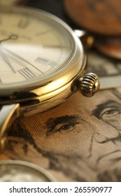 Time is money.  Clock in US dollars