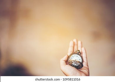 Time is money or an Old clock in the hand, Watch, Do not waste your time, Delivery service, Monday morning