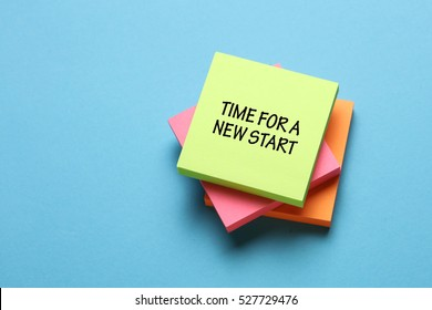 Time For A New Start, Business Concept