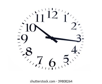time is now black on a white background