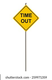 Time out. Road sign. Raster.