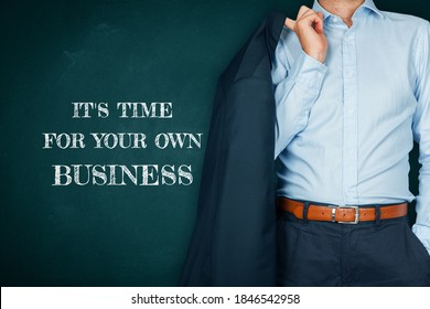 Time for own business after crisis motivation concept. Unemployed manager due to coronavirus crisis take the opportunity and start new business. Post covid-19 business and investment concept.