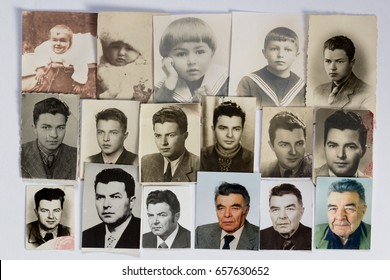 Time passing, collage of vintage photos of a face of the same person from infancy to old age to illustrate passing of time, particular photos from 1921 up to 2010, collage 2017  - Shutterstock ID 657630652