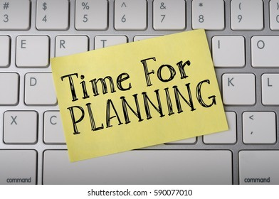 """Time for Planning"" on Notepad"