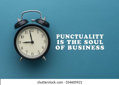 Time Punctuality Concept