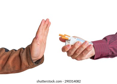 It is time to quit smoking now. Isolated on white
