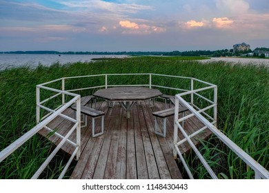 Time to relax on an island somewhere in Zavidovo, Tver region, Russia