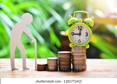 time running on money coins saving for concept investment mutual fund finance to retirement and pension