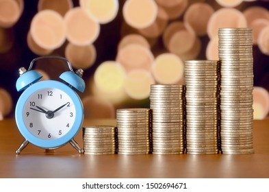 Time for savings money concept, banking and business idea