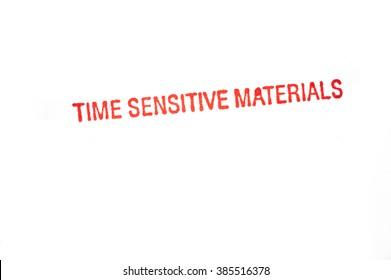 Time Sensitive Materials stamp